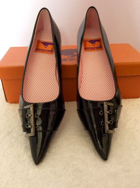 NEW BLACK ROCKET DOG BUCKLE PUMPS FLATS SHOES SIZE 5/38