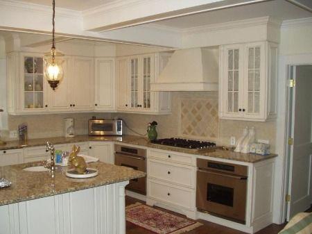 White Kitchen Cabinets Beige Countertop Pin on Kitchen