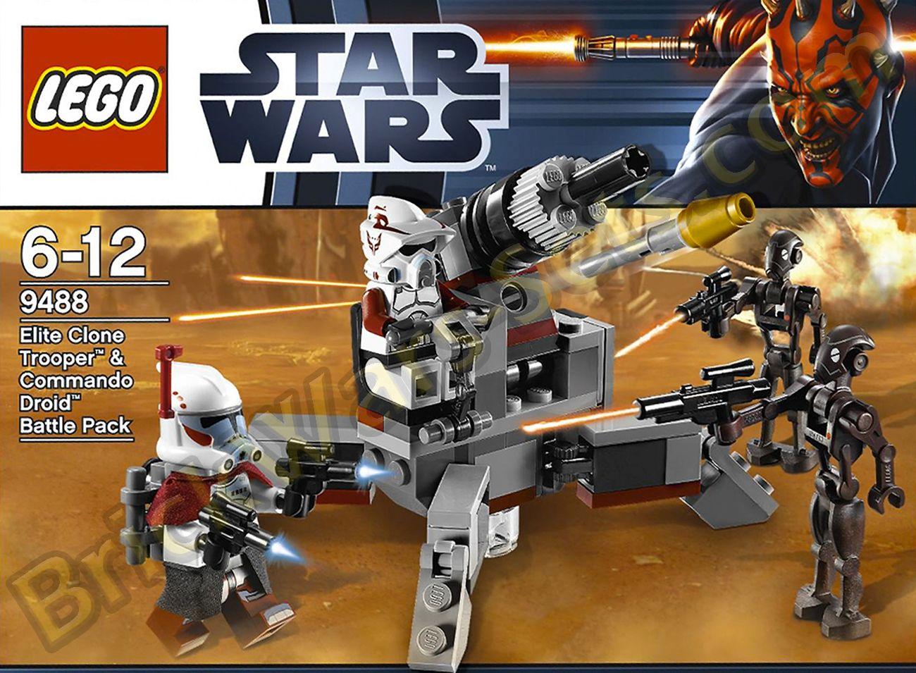 Lego Star Wars 9488 Elite Clone Trooper Battle Pack Instructions Only