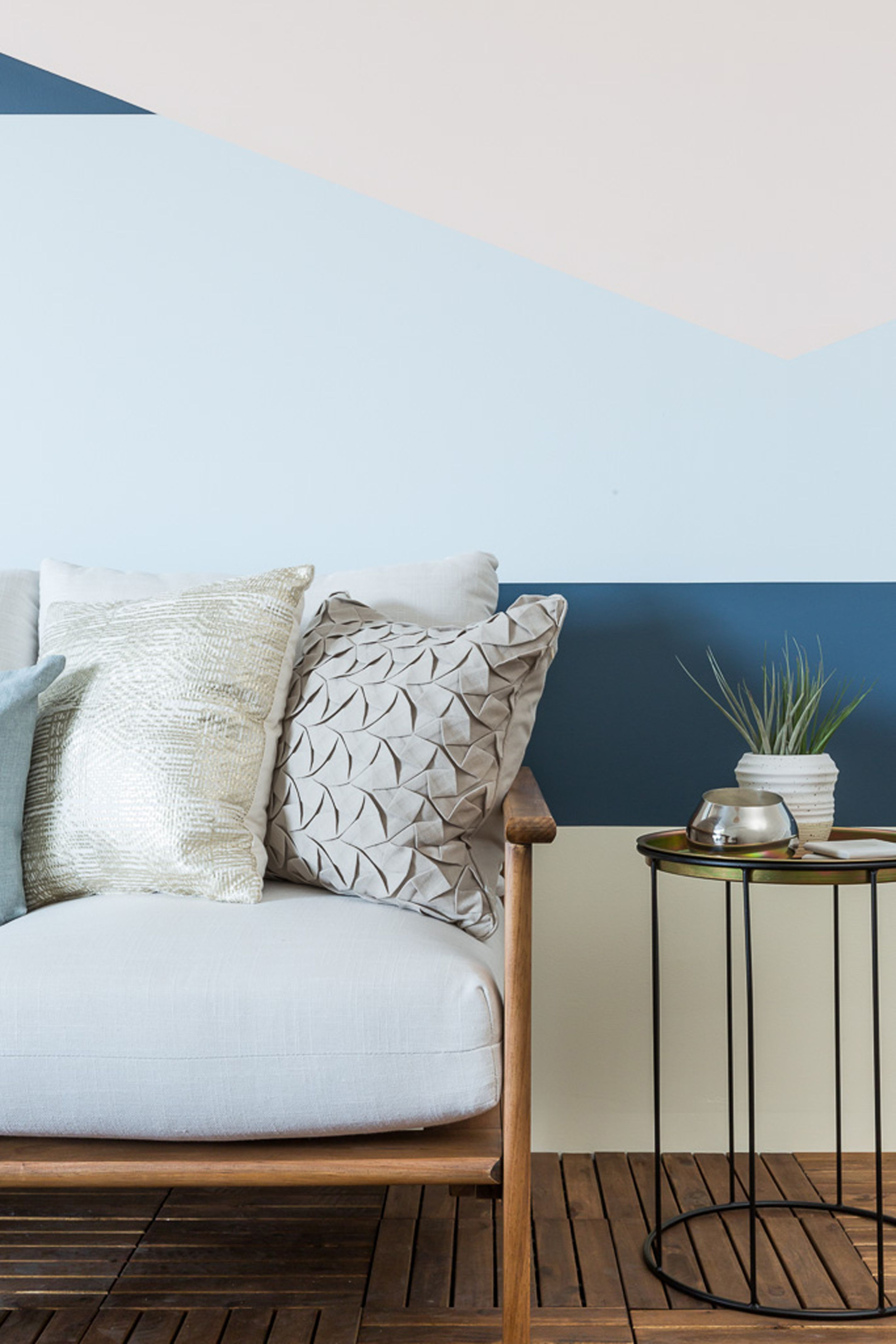 Sephora, Color Blocking, Patio, Accents, Sidetable, Sofa, Teak, Wood