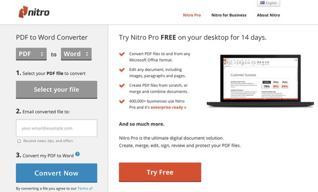 Nitro 提供線上 Pdf Word Excel Powerpoint 轉檔工具 Nitro Pdf Word Free Words