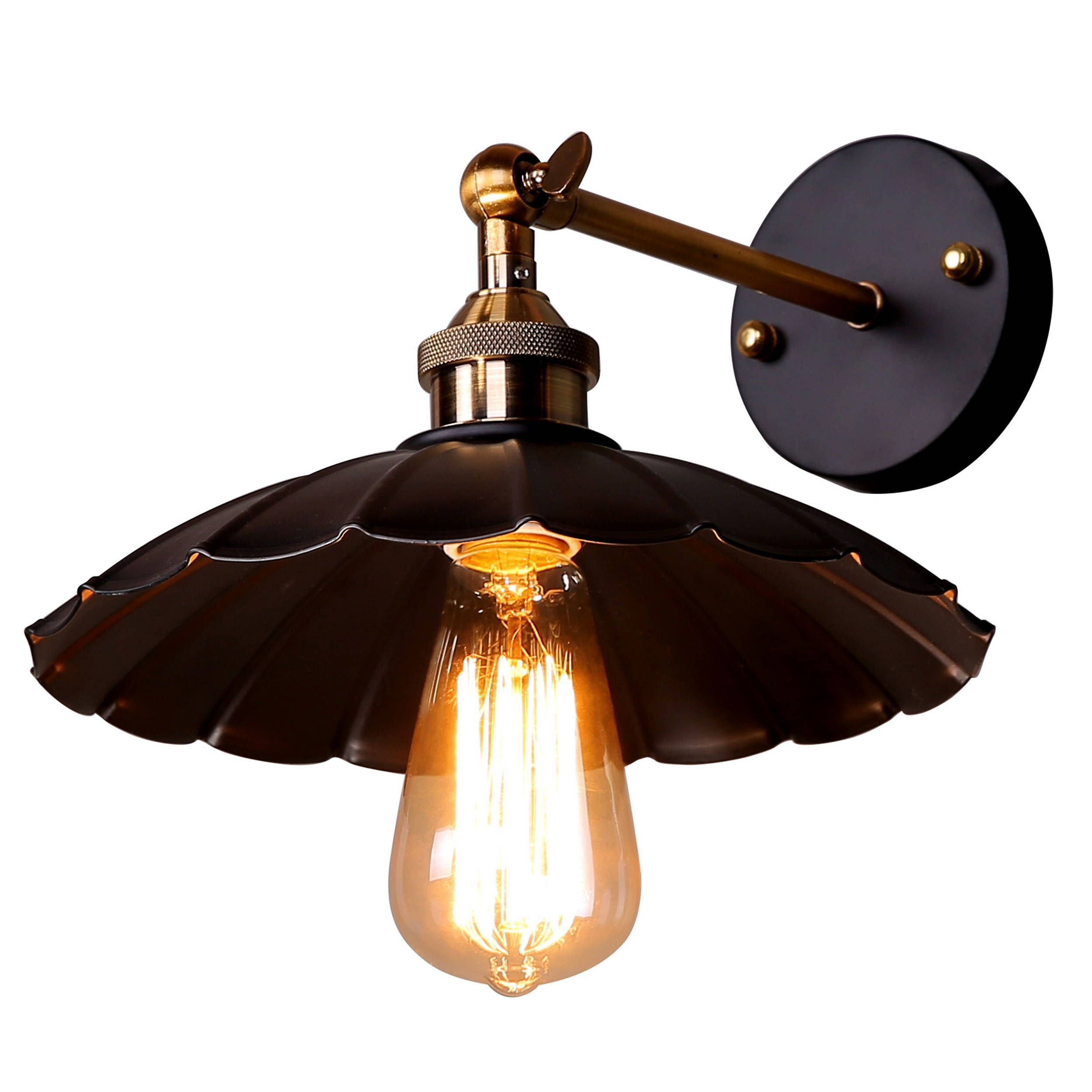 Peachy Journee Home Albany Iron 10 In Hard Wired Edison Bulb Included Wiring Digital Resources Antuskbiperorg