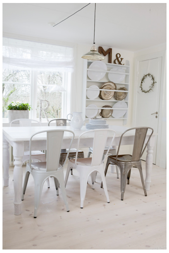 The Table Tolix Chair Inspiration Mix Match Dining Chairs Cafe Chairs Bistro Chairs