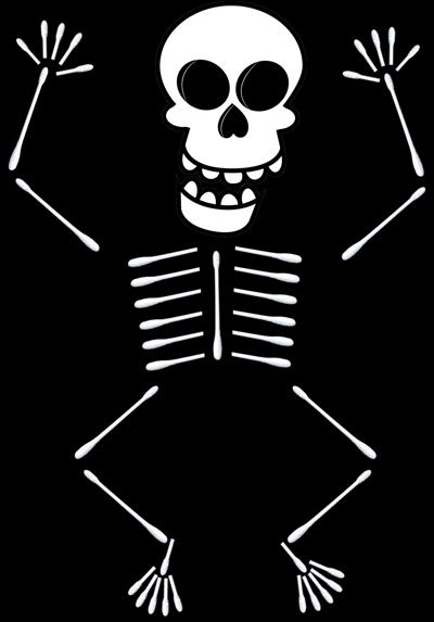 How to Make Q Tip Skeletons  Holidays  Pinterest  Skeletons