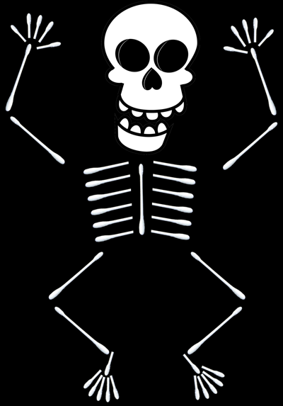 How To Make Q Tip Skeletons Holidays Pinterest