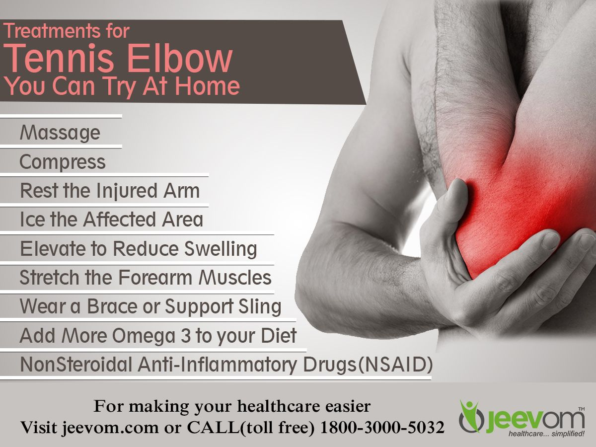 Treatments For Tennis Elbow You Can Try At Home Massage Compress Rest The Injured Arm Ice The Affected A Tennis Elbow Forearm Muscles Reduces Swelling