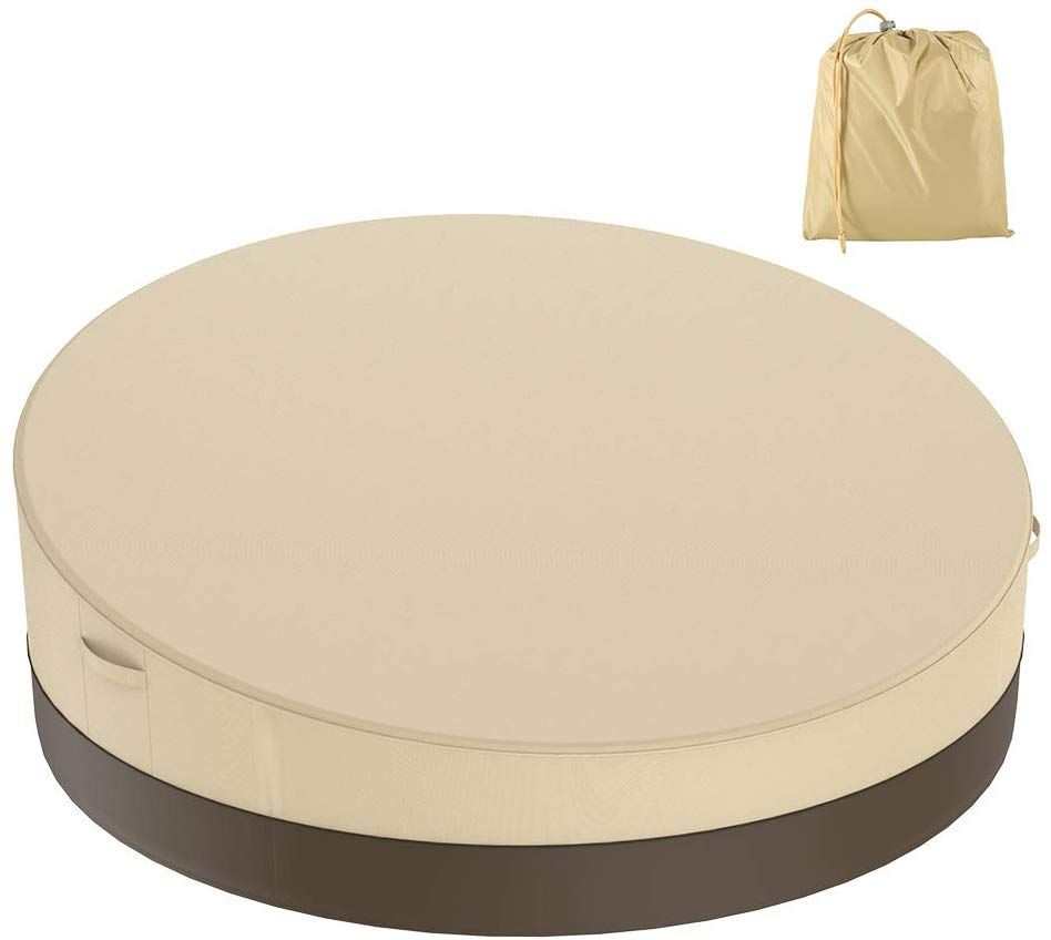 Bullstar Patio Round Daybed Cover 90 Inch 420d Outdoor Garden Furniture Cover Heavy Duty Oxford Garden Furniture Covers Outdoor Garden Furniture Daybed Covers