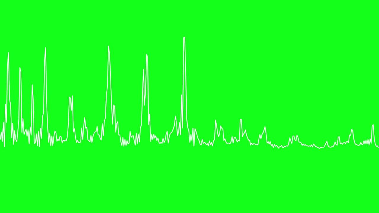 Audio Spectrum Visualizer green screen | Green screen footages in