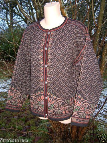 Dale of Norway 100% Norwegian Wool Cardigan Sweater L Nordic Pewter ...