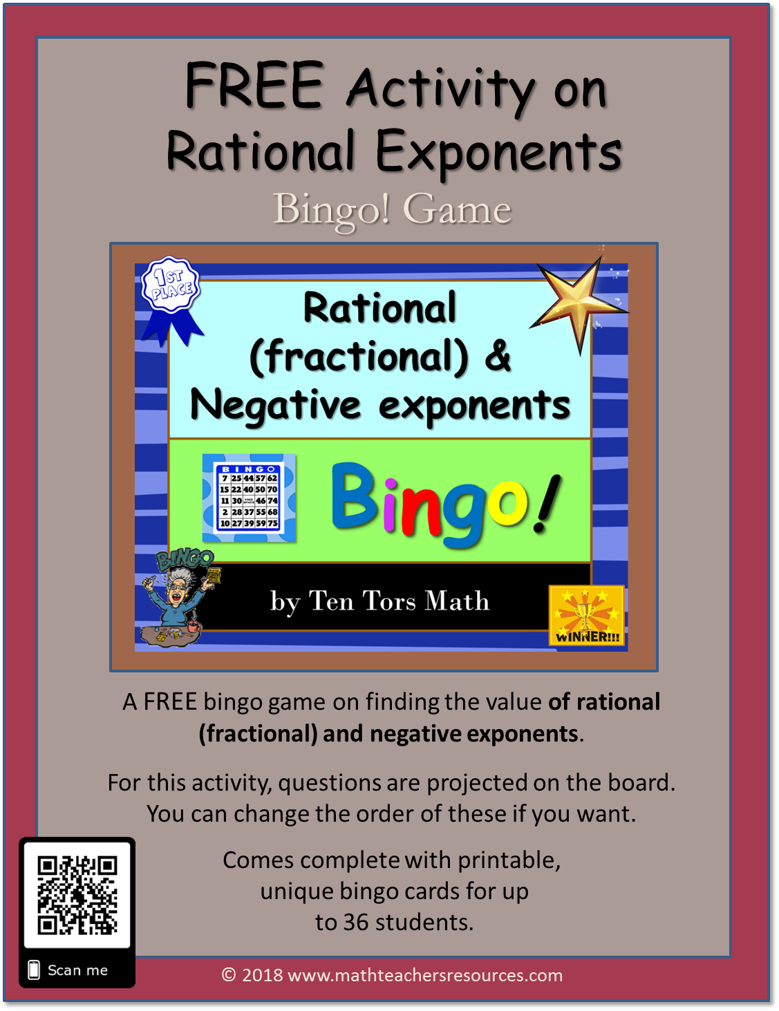 Rational Fractional Amp Negative Exponents Activity Free