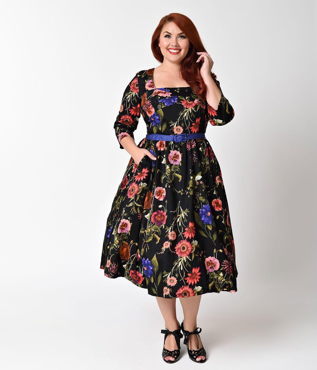 Plus size vintage dresses plus size retro dresses pinterest