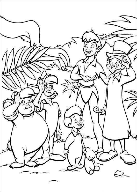 peter pan 52 ausmalbilder für kinder malvorlagen zum