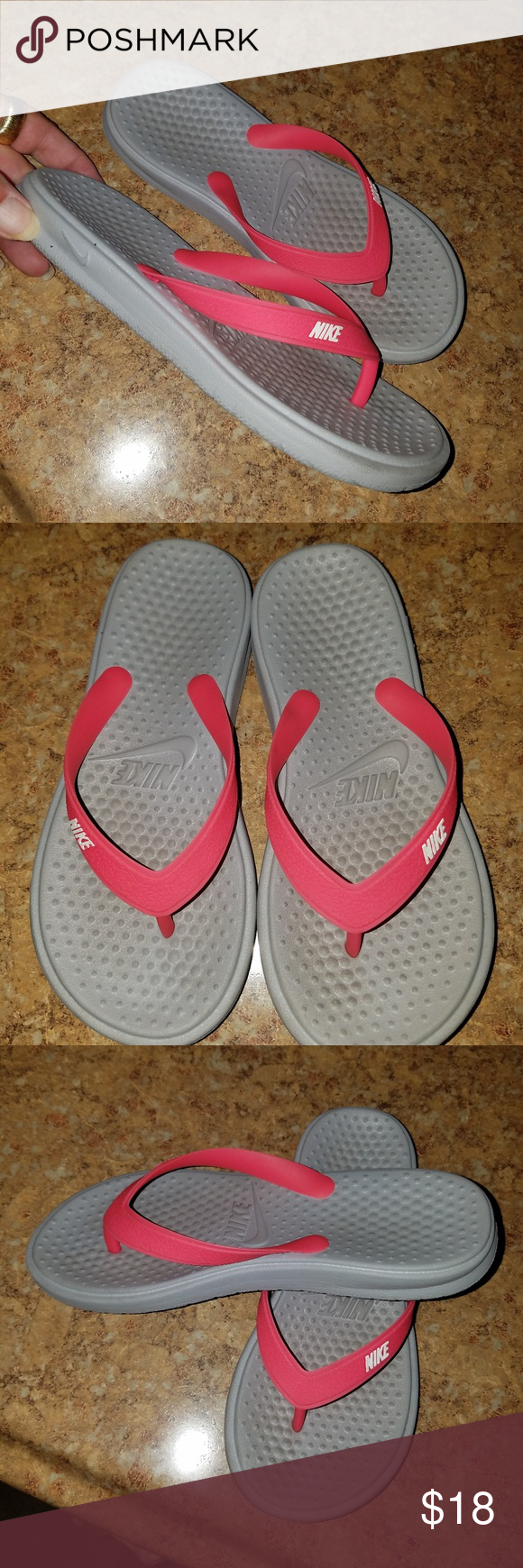 c3bb90d106ea23 Nike Toddler Flipflops size 13 Nike Toddler Flipflops size 13. Very good  used condition. The straps are tight Nike Shoes Sandals   Flip Flops
