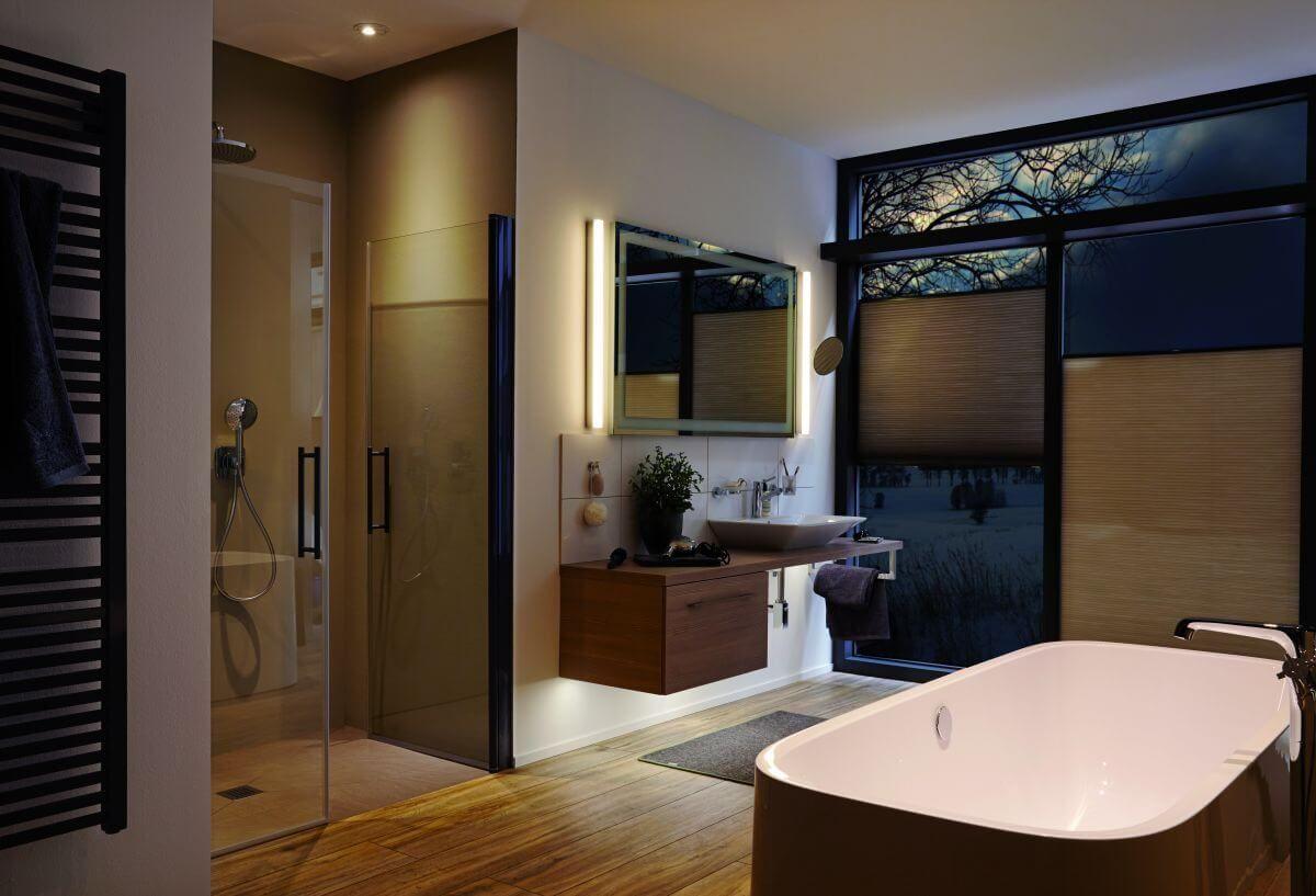 perfekt einbauleuchten im badezimmer die eleganten spots aus hochwer einbauleuchten. Black Bedroom Furniture Sets. Home Design Ideas