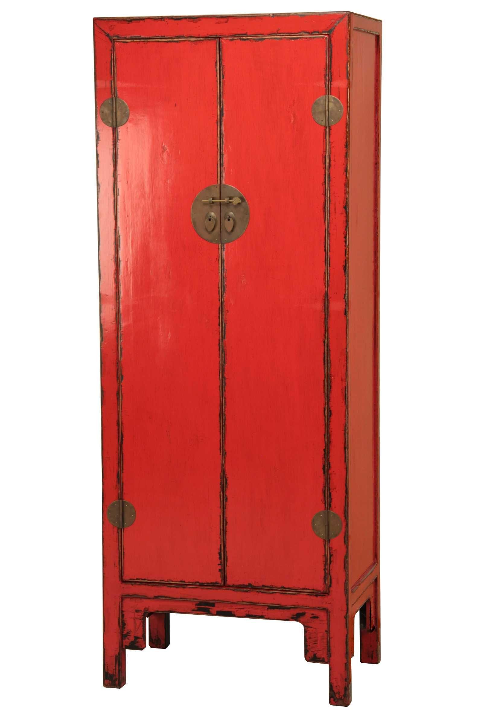 Armario Oriental Rojo Envejecido. | Muebles y Decoración Oriental ...