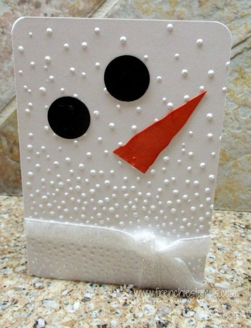Stamp & Scrap with Frenchie: Snowman Gift Card Holder