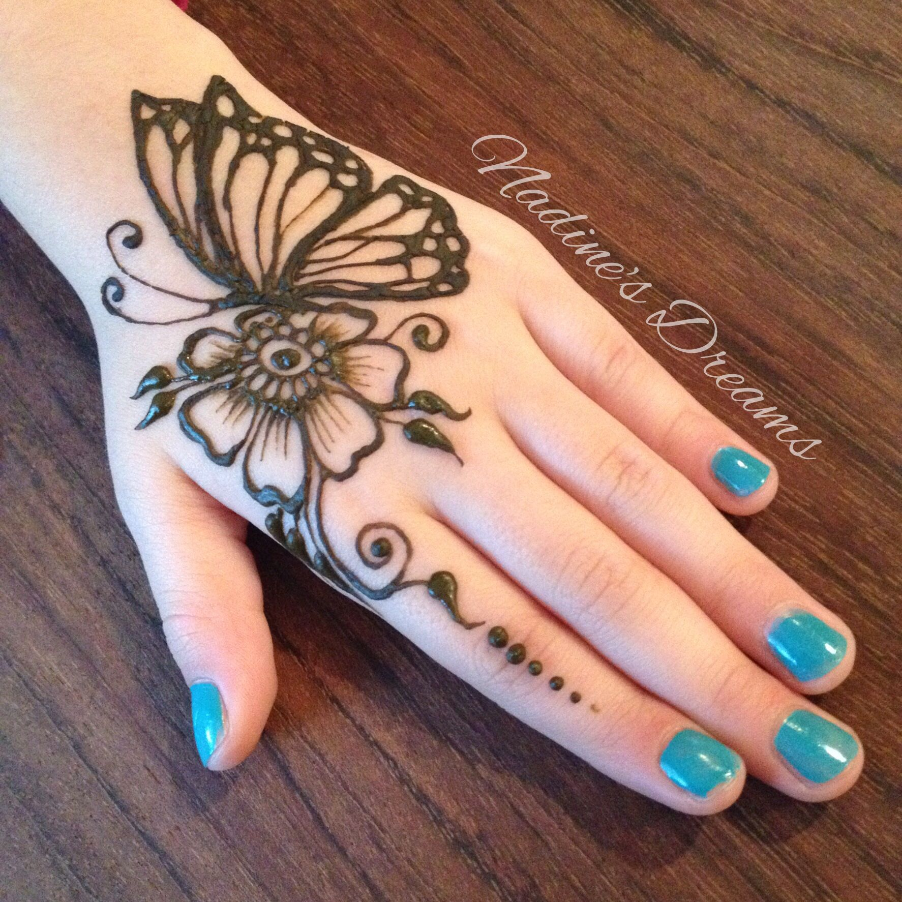 Henna Butterfly by Nadine Davidson Nadine's Dreams