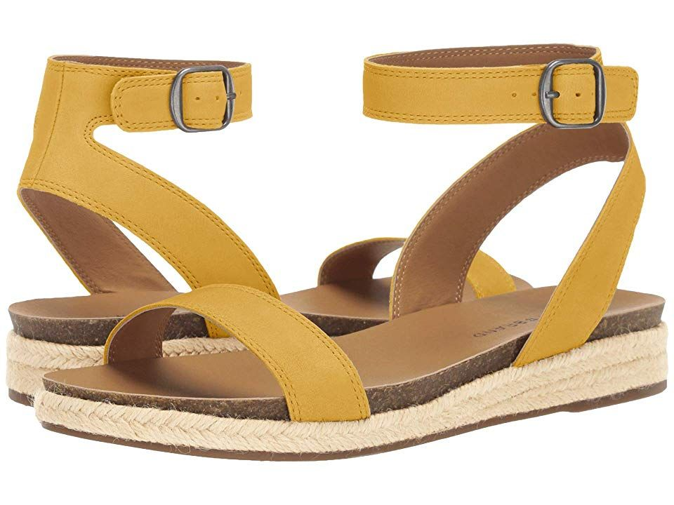 Lucky Brand Garston Women S Shoes Ochre In 2020 Lucky Brand Shoe Size Conversion Ankle Strap