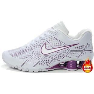 97b5820a6945 Nike Shox -Turbo12 Women White Purple