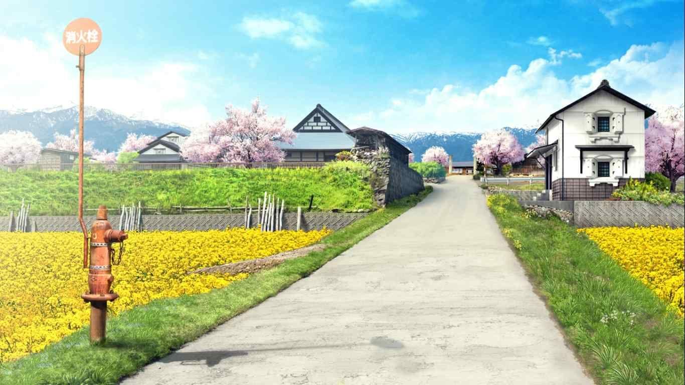 通学路 さくら 咲きました 美的背景 聖地巡礼 美しい風景