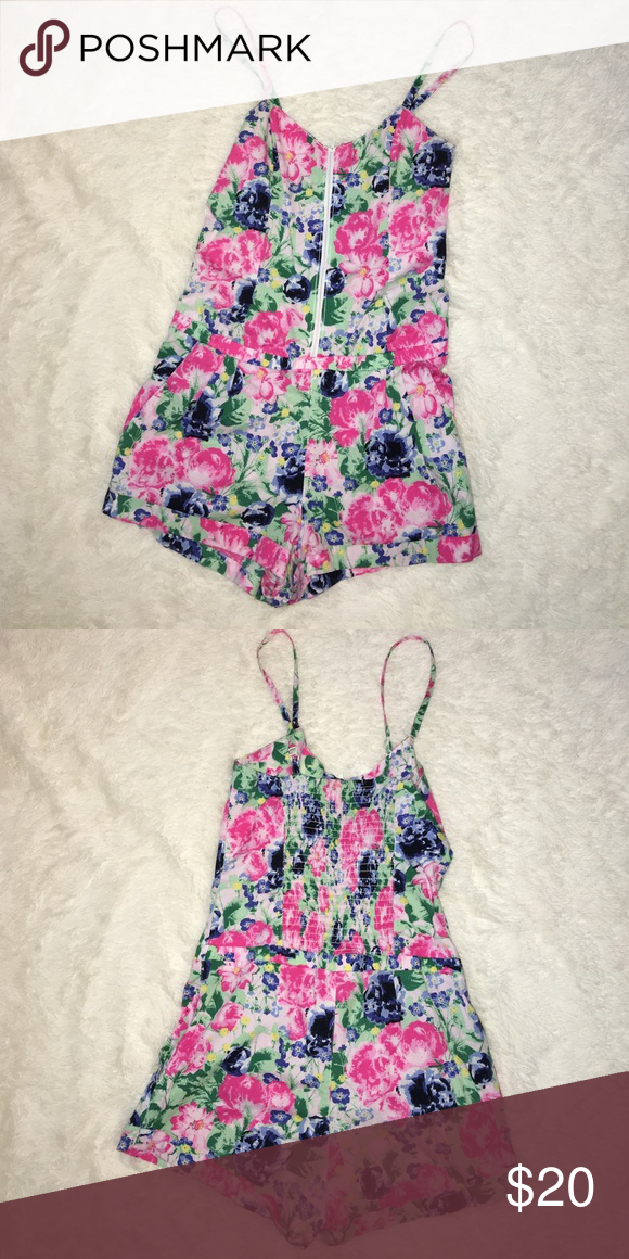 6d7874acd3 H M Floral Romper H M Floral Romper- Great condition. Fits Small ...