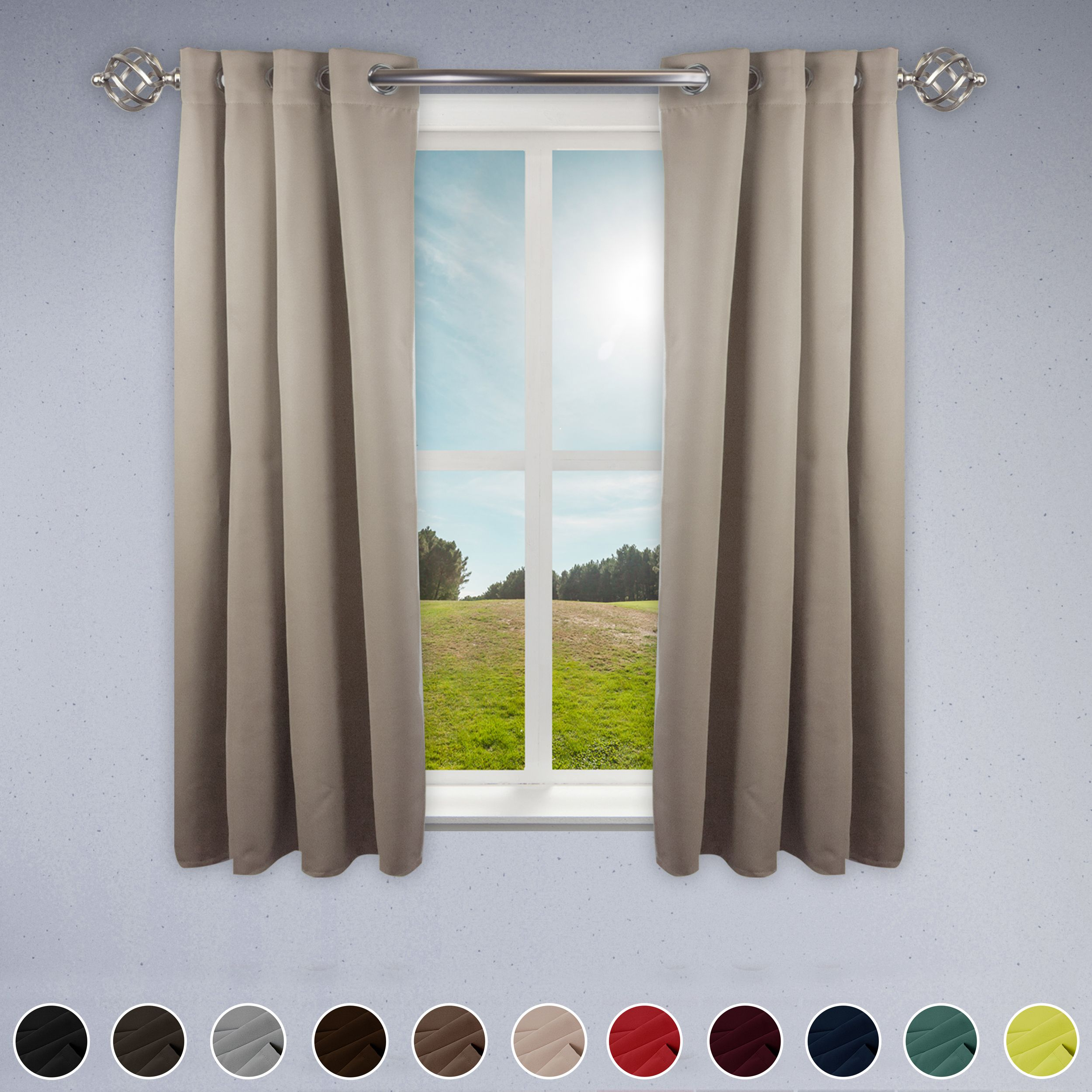 Rod Desyne Room Darkening Curtain 52 Inch Width 1 Panel Light
