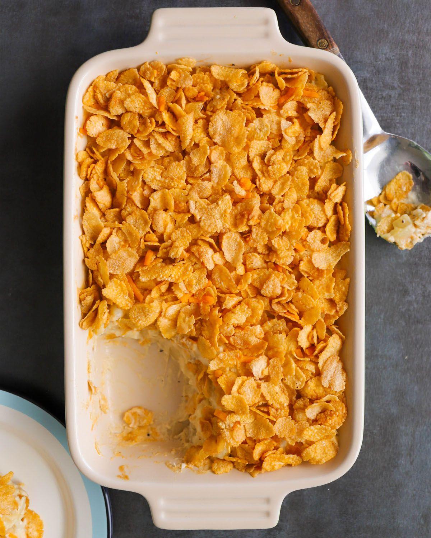 Vegan Funeral Potatoes Recipe Cheesy Hashbrown Casserole Cream Of Chicken Soup Chicken Soup Base