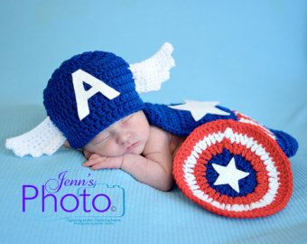 50ec03c507eb Tiny Crochet Superhero Outfits for Infants