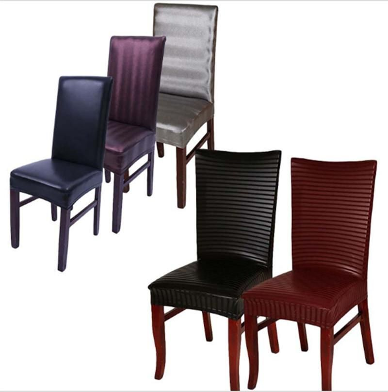 Red Leather Dining Room Chairs For Sale Pu Leather Spandex Chair Covers  Lace Brownbrownsilverwine Red