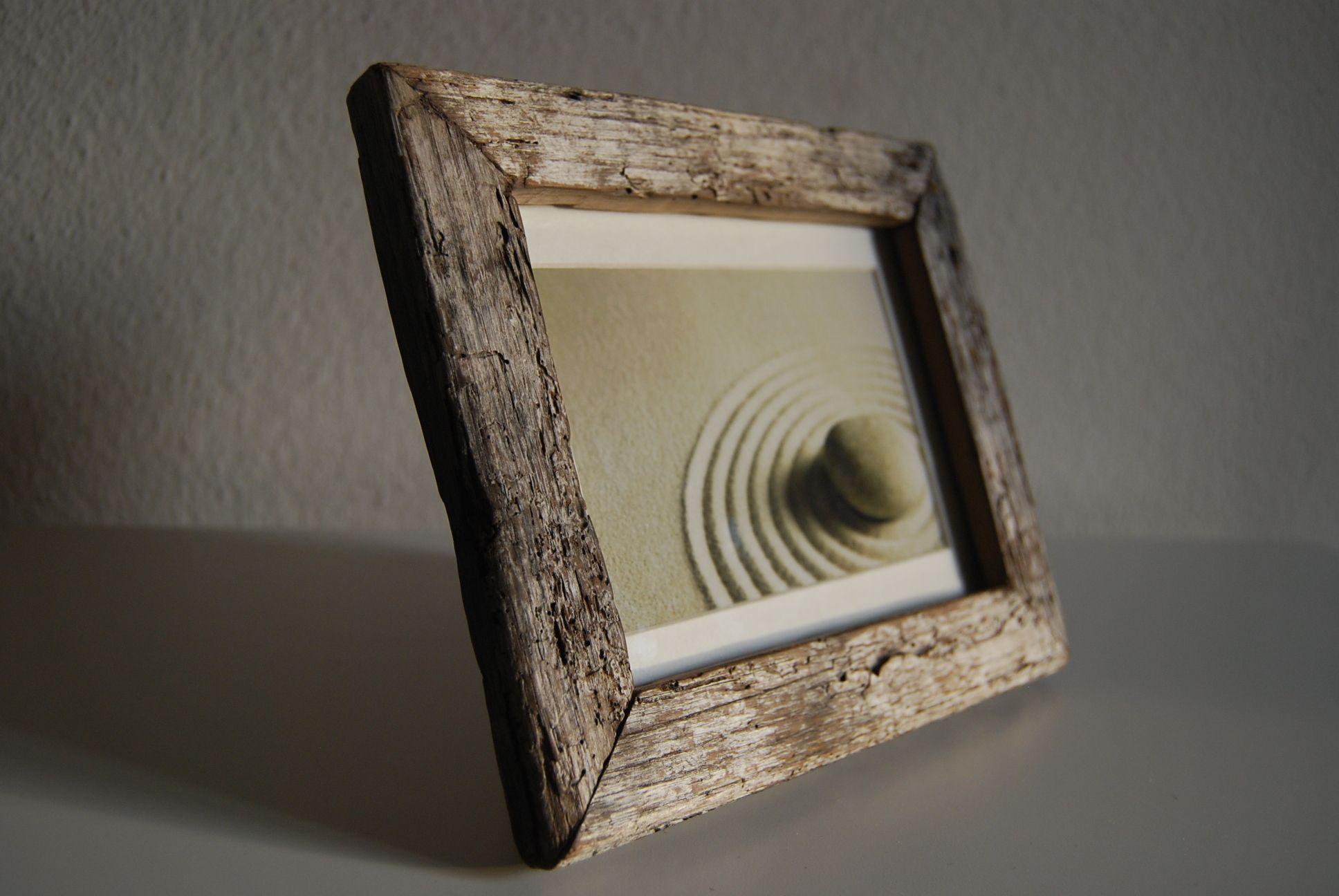 Bilderrahmen --DARKNESS-- Einmaliger Bilderrahmen aus Treibholz mit ...