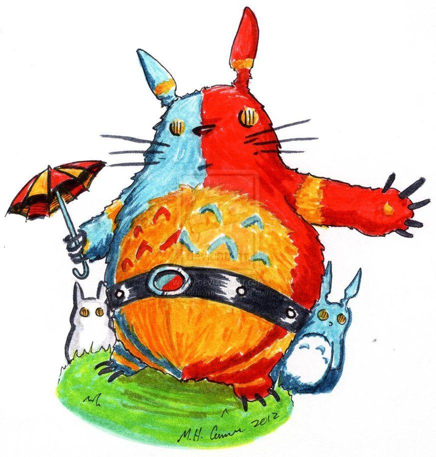 Mash-up of Totoro and Kikaida  http://artildawn.deviantart.com/gallery/31609100#/d57u1r9