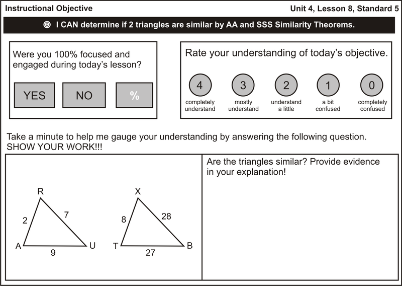 Interesting format for Exit Ticket for Polygon Similarity