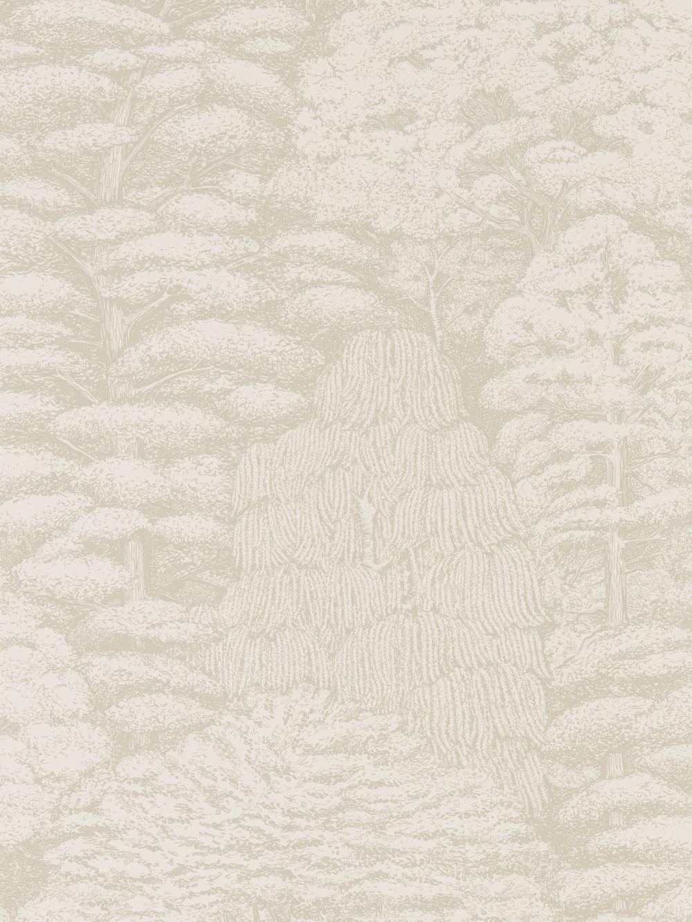 Home diy wallpaper illustration arthouse imagine fern plum motif vinyl - Woodland Toile Ivory And Neutral Wallpaper By Sanderson