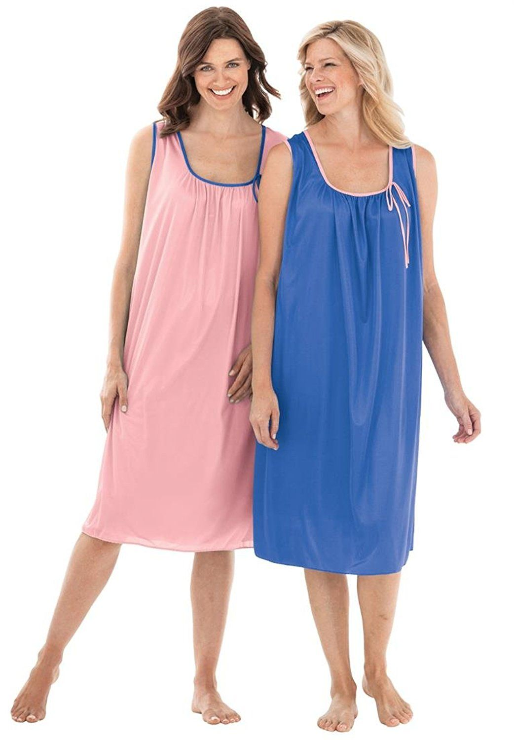 30db6e6761c Only Necessities Women s Plus Size 2-Pack Sleeveless Tricot Night Gown    Special product just for you. See it now!   Plus size tops