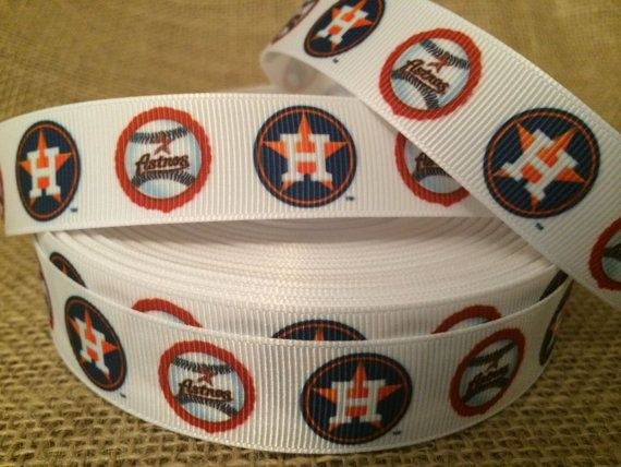 "Astros craft ribbon 7//8/"" Astros ribbon Astros hairbows Astros ribbon"