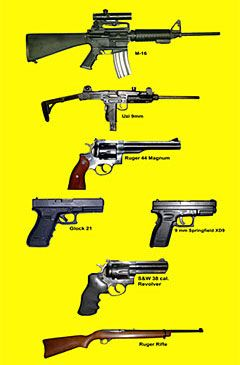 Super Course M-16 ( 223 REM) Uzi 9mm Carbine / CX-4 Storm