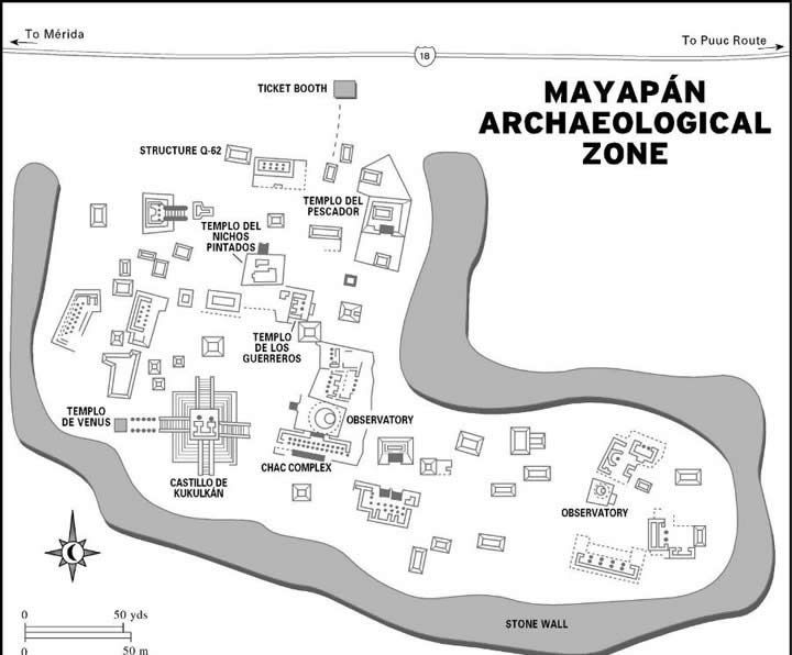 Mayapan Ruins  Yucatan  Mayan ruins Archaeological site and History
