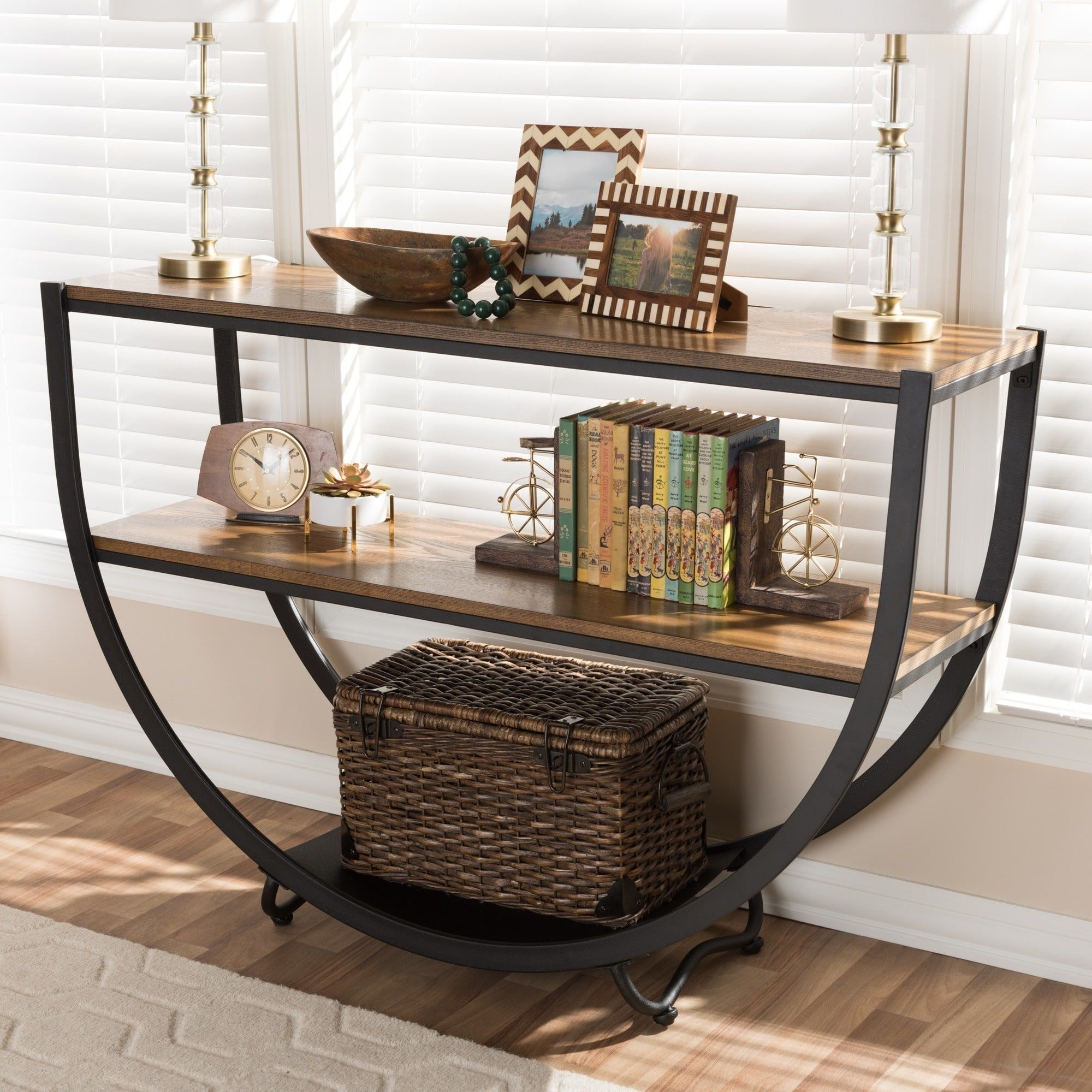 Astonishing Carbon Loft Cohn Vintage Industrial Console Table Console Inzonedesignstudio Interior Chair Design Inzonedesignstudiocom
