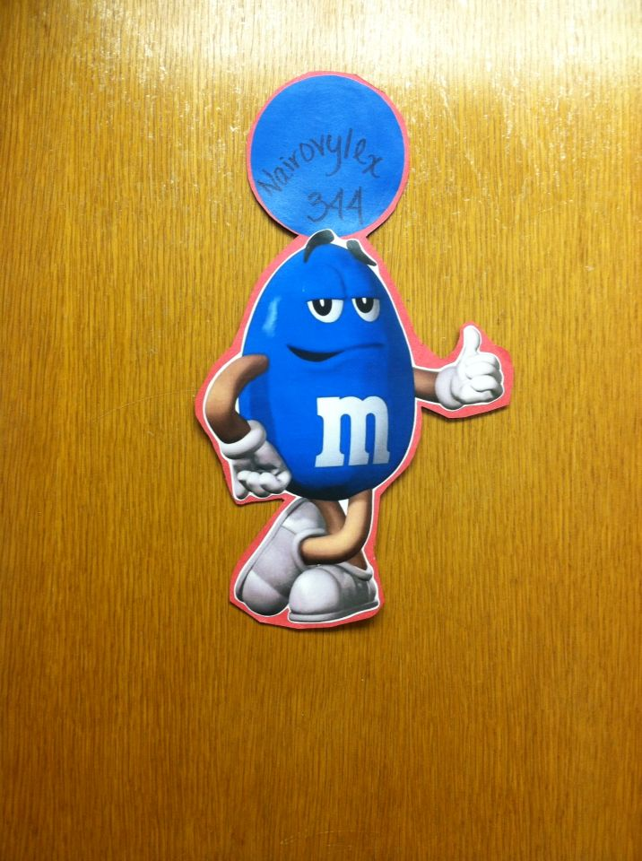 M&M theme for my residents. Cute and simple