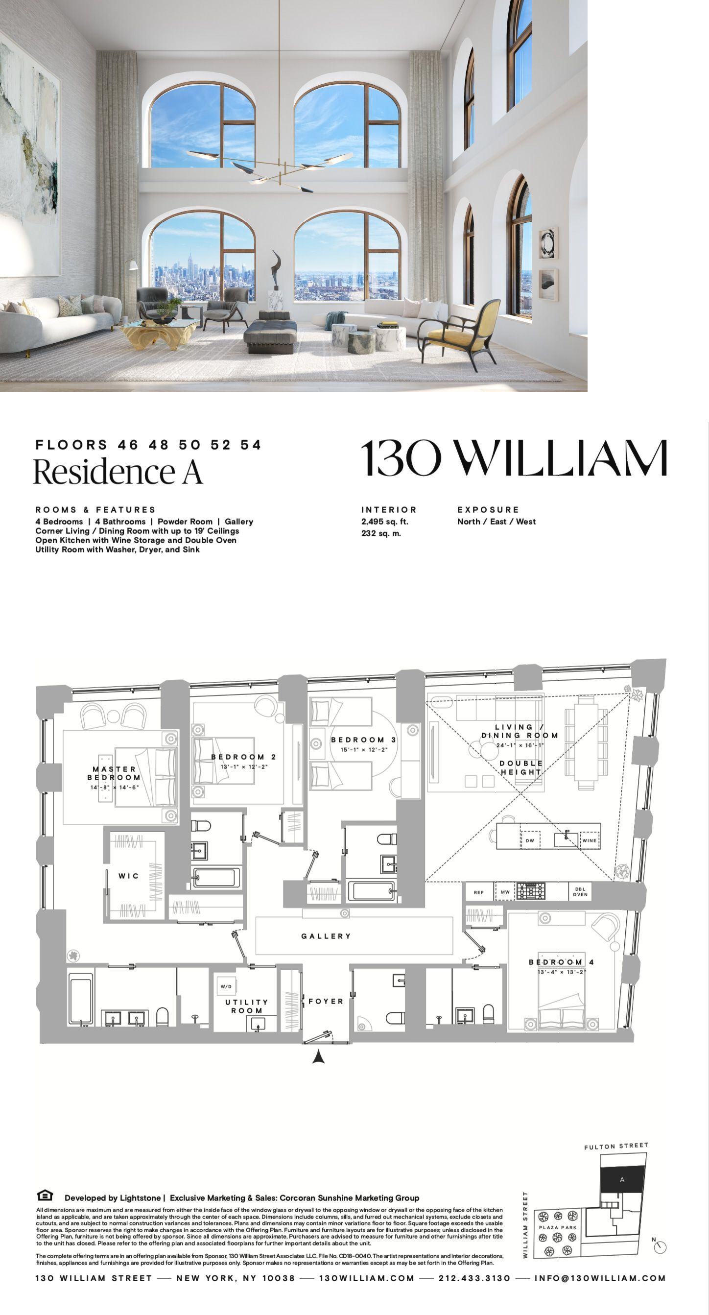 Re 130 William Residence A Penthouse Apartment Floor Plan Luxury Plan Home Building Design