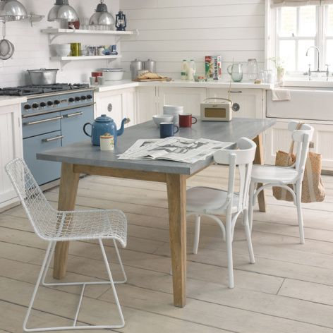 Geronimo White Kitchen Chair Styled With Daddy Zinc Kitchen Table