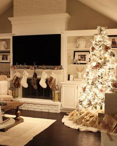 Weihnachten Wohnzimmer Dekor  Weihnachten wohnzimmer