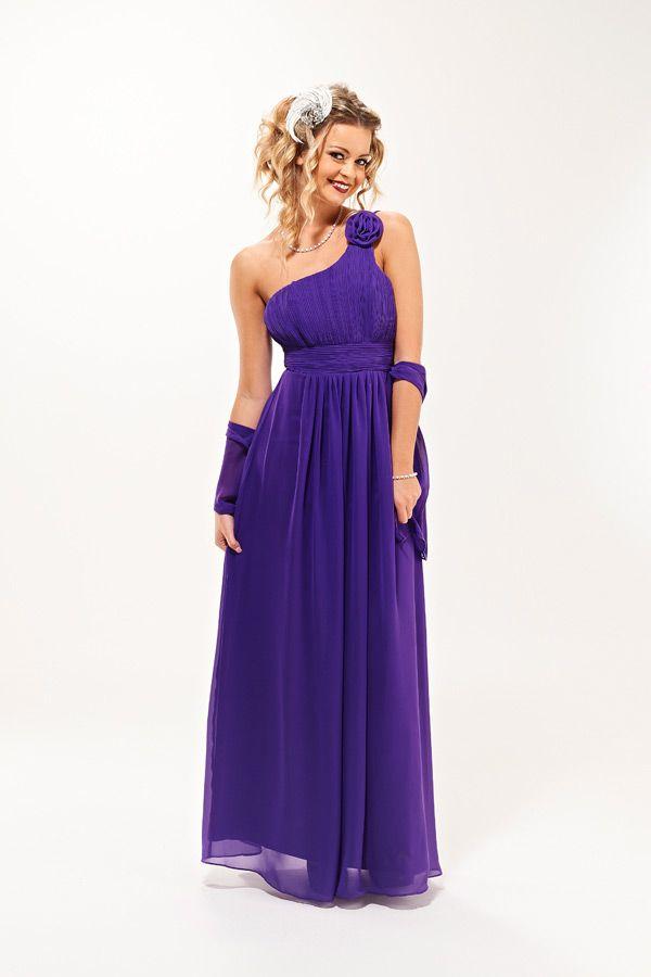Cadburys Purple Grecian Style Bridesmaid Dress - Rose By Era ...
