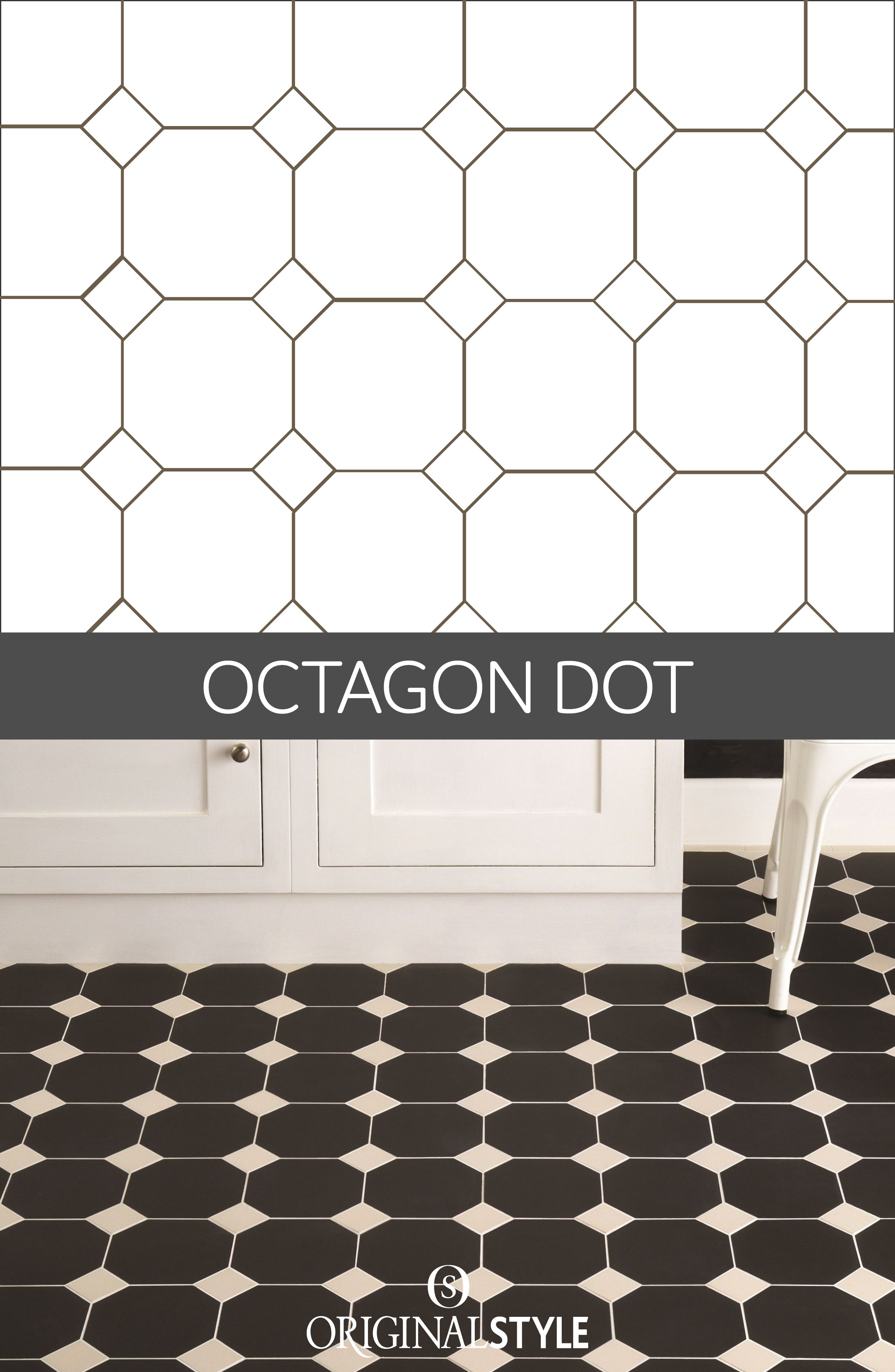 Your guide to tile pattern layouts layouts tile patterns and kitchens octagon dot is another classic layout often seen on floors using victorian floor tiles this dailygadgetfo Images