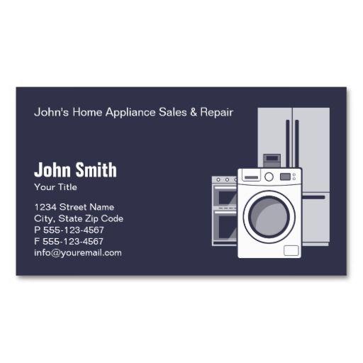 Custom home appliances business card templates Card templates - home for sale template