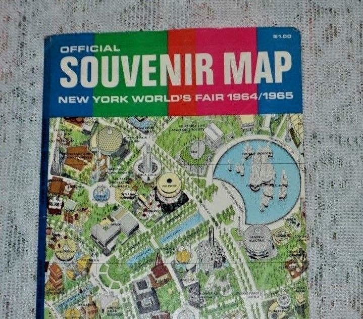 New York Worlds Fair 1964-65 The Official Souvenir Map by Time Life ...