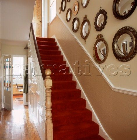 Red Carpet For Staircase Stairs And Landing With Red