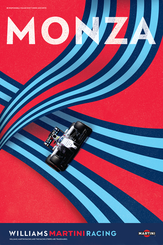 Martini Stripes In Modern Style Poster Perfect Vintage Racing Poster Martini Racing Posters Martini Racing