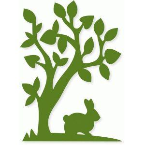Silhouette Design Store - View Design #76990: bunny tree