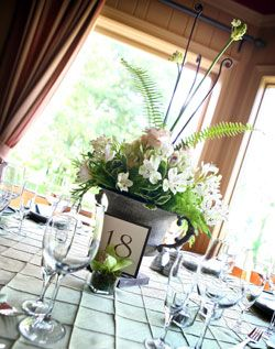 I like the fern and curly things - WeddingChannel Galleries: Flower and Fern Centerpiece